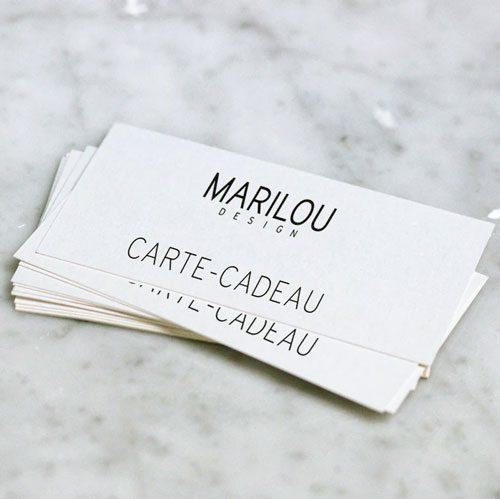 Carte-cadeau Marilou design gamme de vêtements pour femme