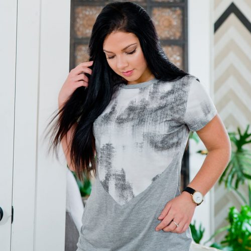 Chandail à manches courtes pour femme par la marque Marilou design