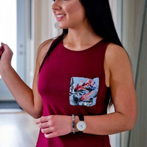 Camisole rouge pour femme