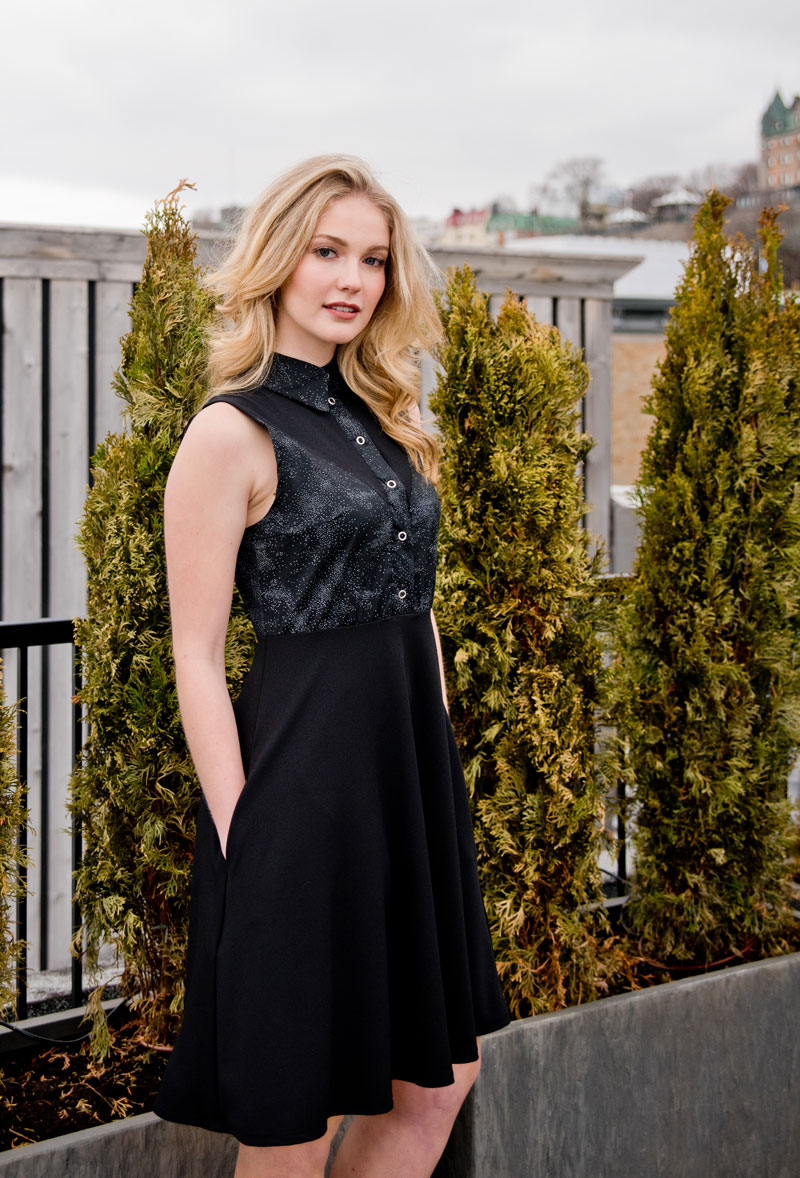 black-dress-with-pocket-very-comfortable-made-in-quebec-look-elegancy-marilou-design