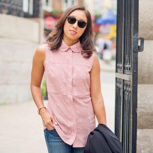 Blouse sans manches pour femme Marilou design