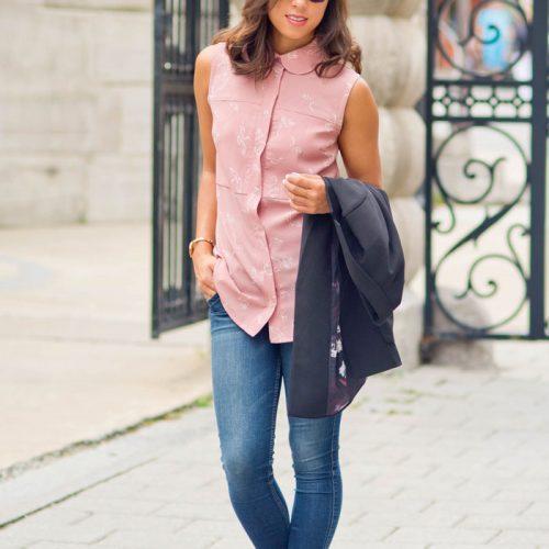 Look pour femme parfait pour le travail, chic et confortable, chemise fait par marilou design