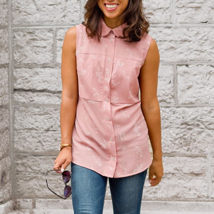 shirt-for-woman-pink-chemise-pour-femme-vetement-clothes-made-in-quebec-look-comfy-blouse-no-sleeves-style-marilou-design