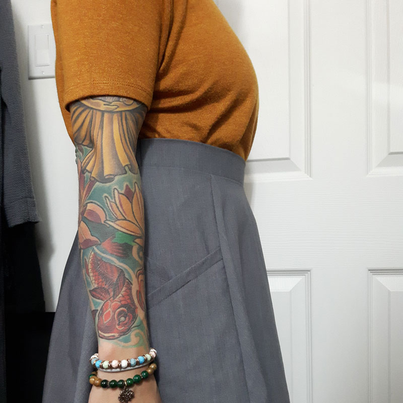 jupe-grise-look-automne-skirt-clothes-for-women-autumn