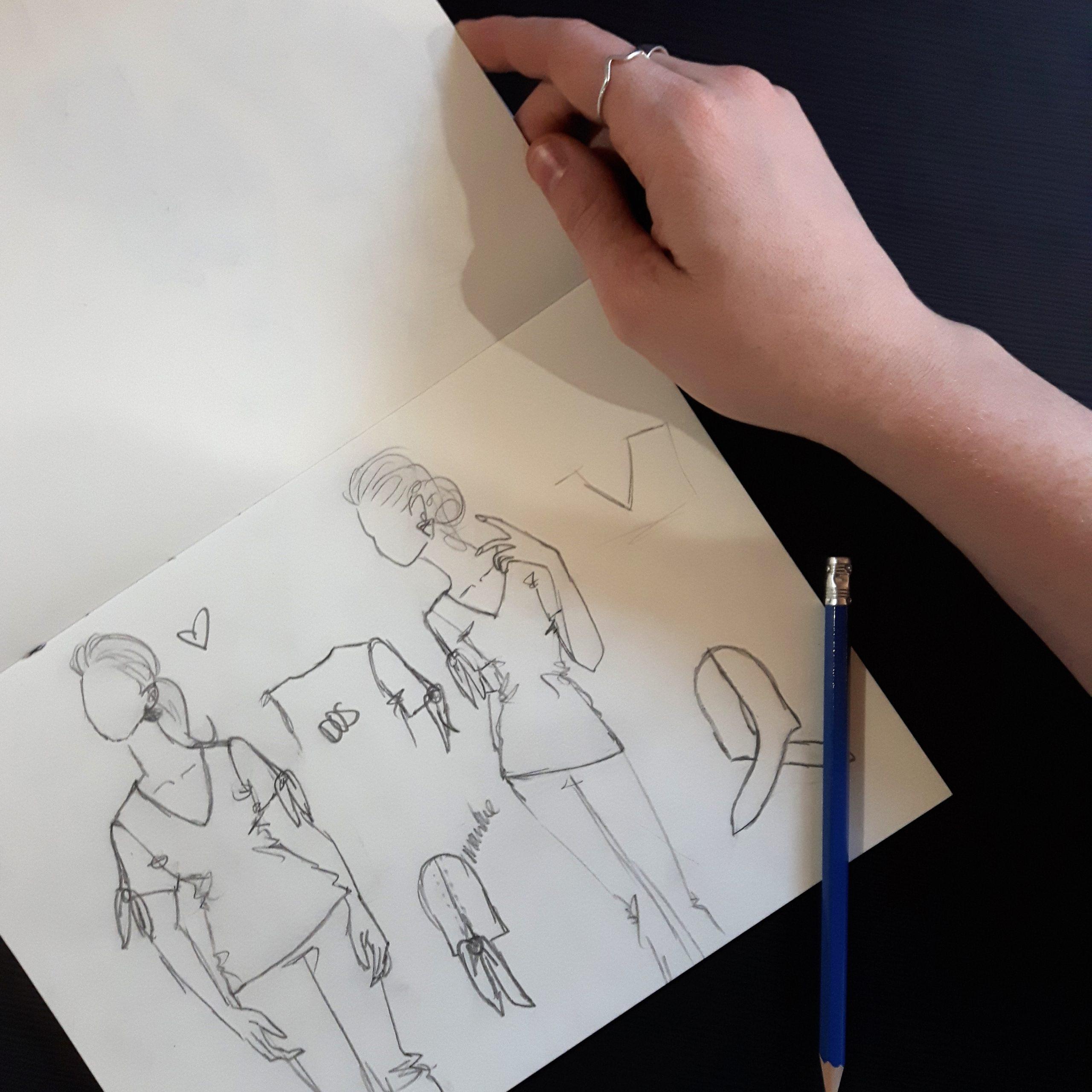 draw-creation-vetement-clothes-for-woman-fashion-designer-fait-au-quebec-look-chic-black-shirt-marilou-design