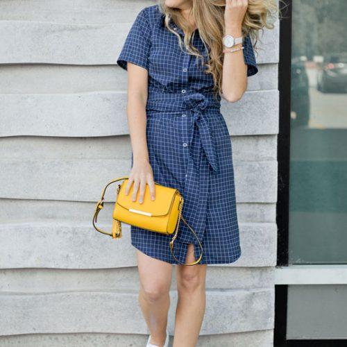 robe-chemise-blue-dress-with-sleeve-boutique-en-ligne-vetement-designer-quebecois-marilou-design