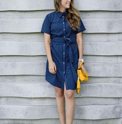 robe-chemisier-a-motif-blue-dress-with-sleeve-boutique-en-ligne-designer-quebecois-marilou-design