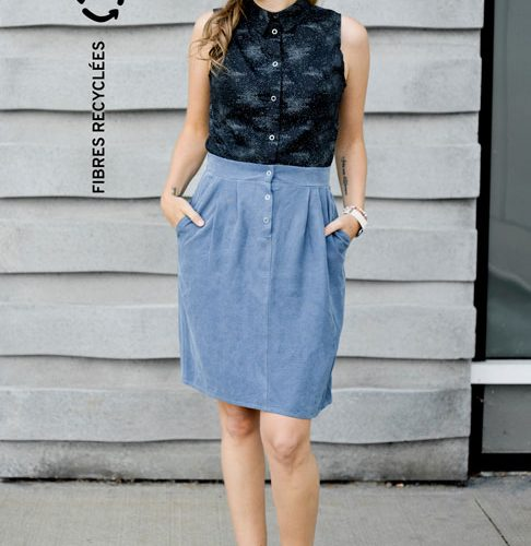 skirt-with-pocket-jupe-avec-poches-fibres-recyclees-vetement-made-in-quebec-marilou-design