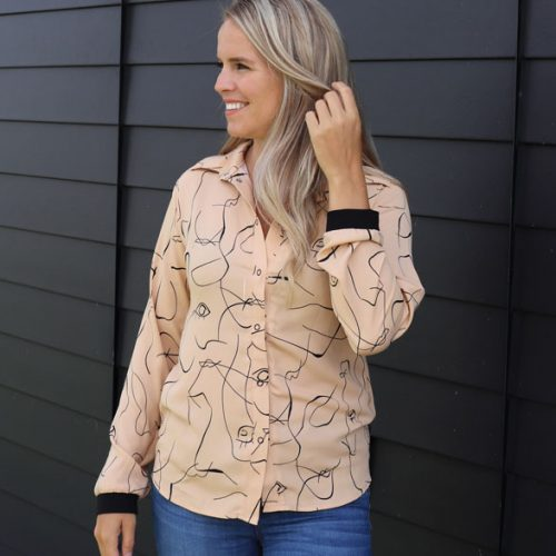 chemise-sable-noir-confortable-fait-au-canada-boutique-en-ligne-vetement-femme-designer-quebecois-marilou-design