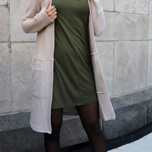 Dress-jersey-confo-classy-kaki-vetement-fait-au-quebec-boutique-en-ligne-marilou-design