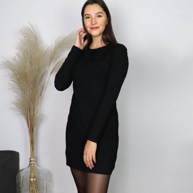 Black-Dress-tshirt-jersey-confo-robe-noire-vetement-quebecois-boutique-en-ligne-marilou-design