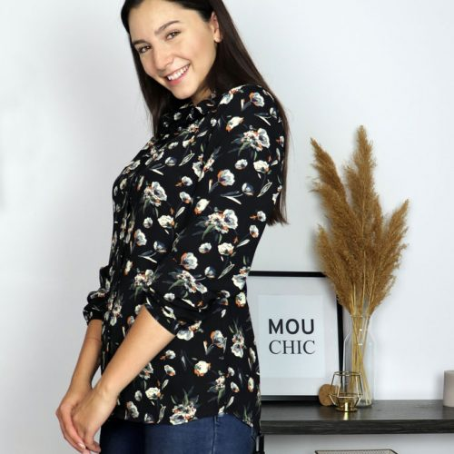 shirt-black-chic-with-flowers-long-sleeves-vetement-designer-quebecois-en-ligne-marilou-design