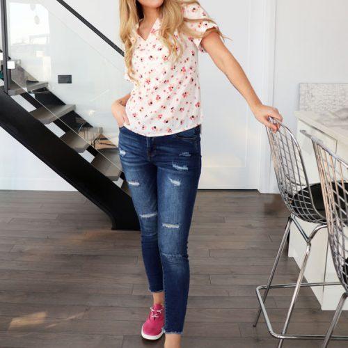 blouse-rose-motif-fleurie-vetement-fait-au-quebec-boutique-en-ligne-marilou-design