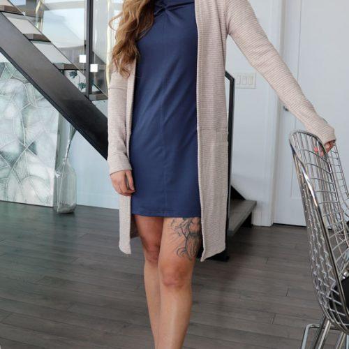 look-dress-robe-jersey-chic-comfy-mouchic-cardigan-long-fait-au-quebec-marilou-design